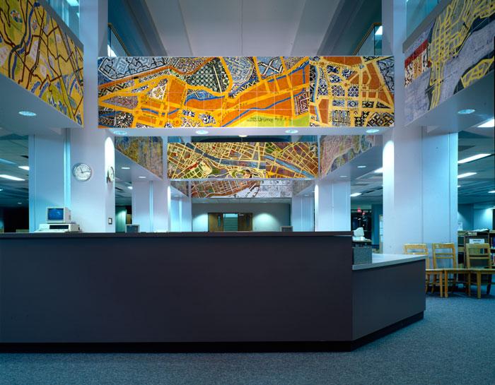 Joyce Kozloff - Around the World on the 44th Parallel, Memorial Library, Mankato State University, Minnesota