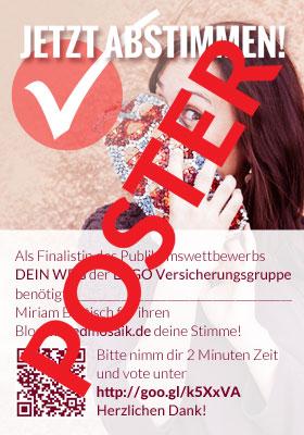 "Poster mused ERGO ""Dein Weg"""