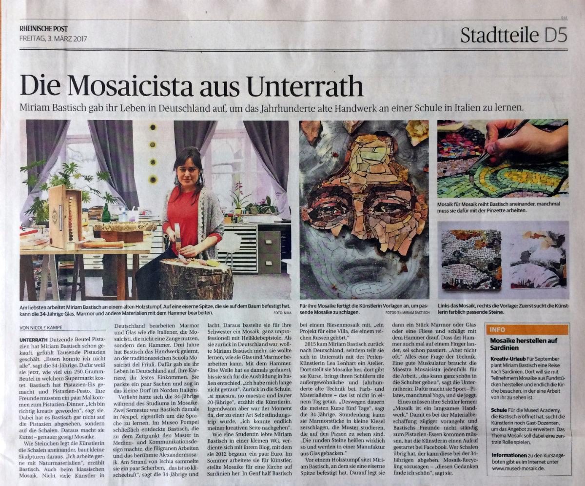 Rheinische Post zu Besuch in der mused Academy