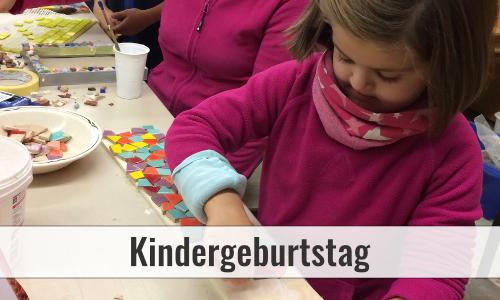 Mosaik machen als Kindergeburtstag in Düsseldorf
