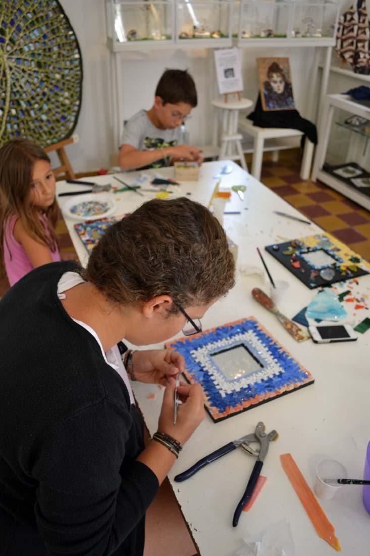 mused offene Mosaikwerkstatt Kinder und Jugendliche Düsseldorf