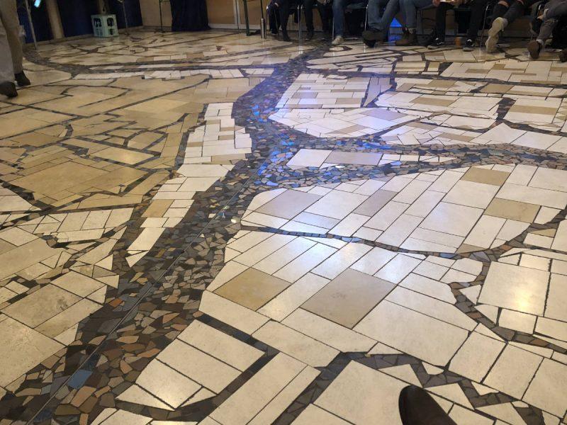 Mosaikfußboden im Haus Israel - Altstadt von Jerusalem
