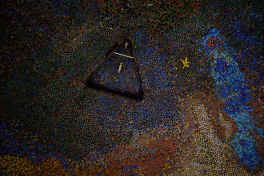 Himmelsfels Mosaikprojekt Detail Himmel