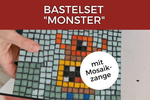 Mosaik Bastelset Monster mit Mosaikzange